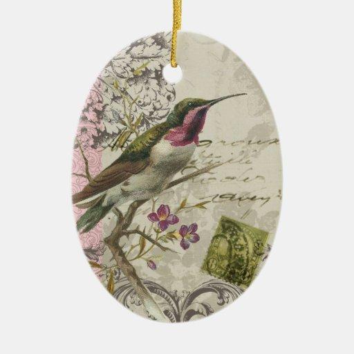 Vintage Hummingbird...ornament Ceramic Ornament