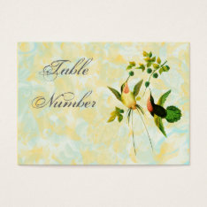 Vintage Hummingbird Table Number Cards at Zazzle