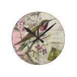 Vintage Hummingbird...wall clock