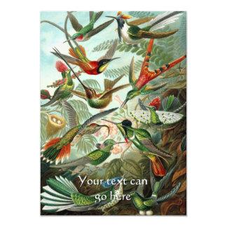Vintage Hummingbirds Card