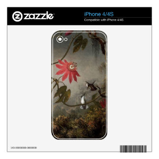Vintage Hummingbirds iPhone 4/4S Skin Skins For The iPhone 4S