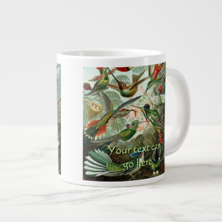 Vintage Hummingbirds Large Coffee Mug