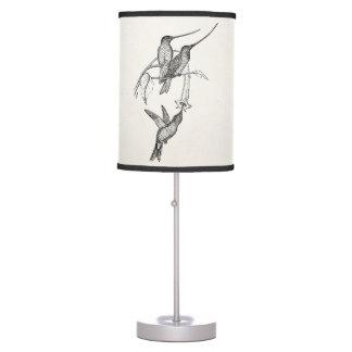 Vintage Hummingbirds Long Beaks Personalized Birds Table Lamp