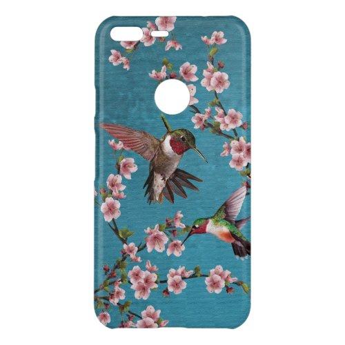 Vintage Hummingbirds & Pink Cherry Blossoms Phone Case