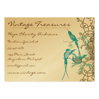 Vintage Hummingbirds Swirl Design Large Business Card