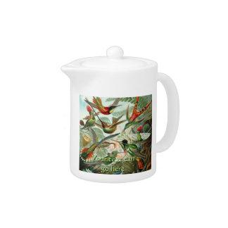 Vintage Hummingbirds Teapot