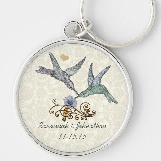 Vintage Hummingbirds  Wedding Key Chain