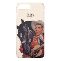 Vintage Humor, Cowboy Singing Music to his Horse iPhone 8 Plus/7 Plus Case