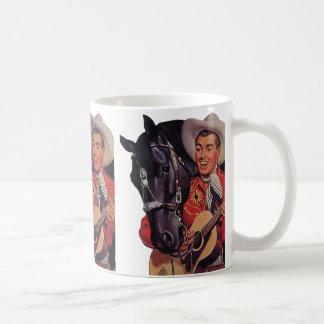 Vintage Humor, Cowboy Singing Music to his Horse Coffee Mug