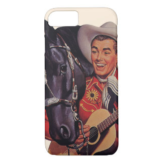 Vintage Humor, Cowboy Singing Music to his Horse iPhone 8/7 Case