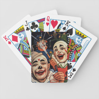 Vintage Humor, Laughing Circus Clowns and Police Bicycle Playing Cards