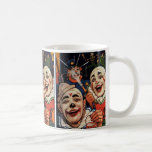 Vintage Humor, Laughing Circus Clowns and Police Classic White Coffee Mug