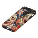 Vintage Humor, Laughing Circus Clowns and Police iPhone 5 Covers