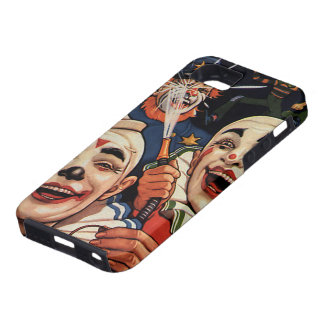Vintage Humor, Laughing Circus Clowns and Police iPhone SE/5/5s Case