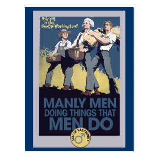 Vintage Humor Manly MEN Postcard