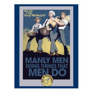 Vintage Humor Manly MEN Postcard