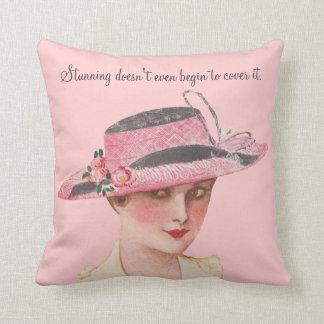 Vintage Humor Throw Pillow