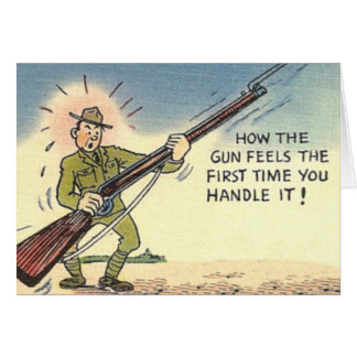 Vintage Humorous Military Army Card