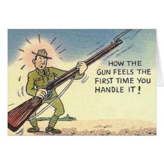 Vintage Humorous Military Army Card