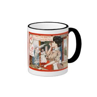 Vintage humour, Ten commandments for women Ringer Coffee Mug