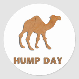 VINTAGE HUMP DAY CAMEL CLASSIC ROUND STICKER