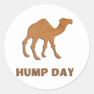 VINTAGE HUMP DAY CAMEL ROUND STICKER