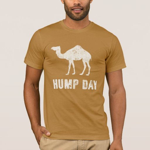 Hump Day T Shirt With Design On Back