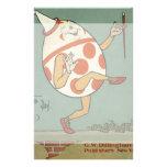 Vintage Humpty Dumpty en el baile de la pared Papeleria Personalizada
