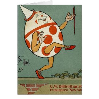 Vintage Humpty Dumpty en el baile de la pared Tarjeta