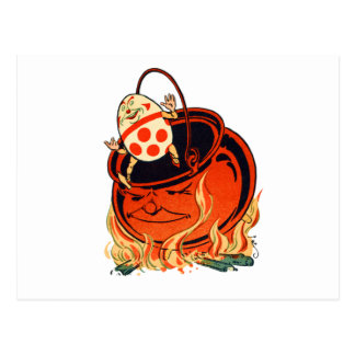 Vintage Humpty Dumpty en la caldera W.W. Denslow Tarjeta Postal