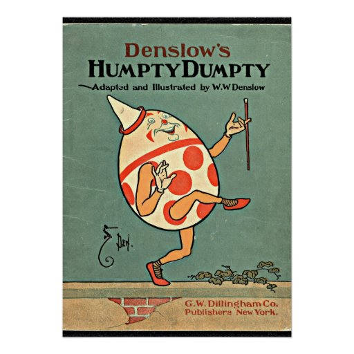 Vintage Humpty Dumpty Impresiones