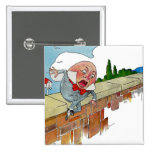 Vintage Humpty Dumpty Nursery Rhyme Illustration 2 Inch Square Button