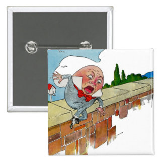 Vintage Humpty Dumpty Nursery Rhyme Illustration 2 Inch Square Button