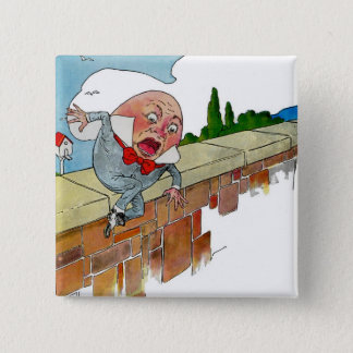Vintage Humpty Dumpty Nursery Rhyme Illustration Button