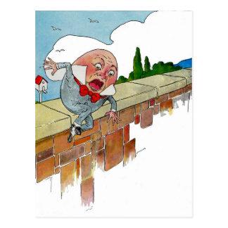 Vintage Humpty Dumpty Nursery Rhyme Illustration Post Card
