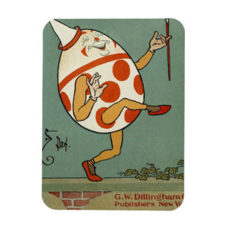 Vintage Humpty Dumpty on the Wall Dancing Rectangular Magnets