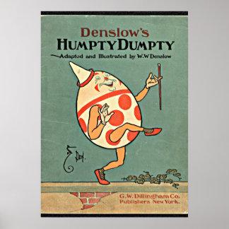Vintage Humpty Dumpty Poster