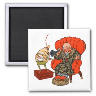 Vintage Humpty Dumpty y sus trucos mágicos Imán Cuadrado