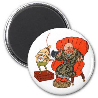 Vintage Humpty Dumpty y sus trucos mágicos Imán Redondo 5 Cm