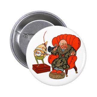 Vintage Humpty Dumpty y sus trucos mágicos Pin Redondo De 2 Pulgadas