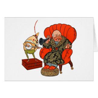 Vintage Humpty Dumpty y sus trucos mágicos Tarjeta De Felicitación