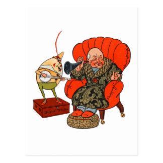 Vintage Humpty Dumpty y sus trucos mágicos Tarjetas Postales