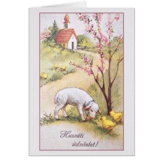 Vintage Hungarian Easter Greeting Card