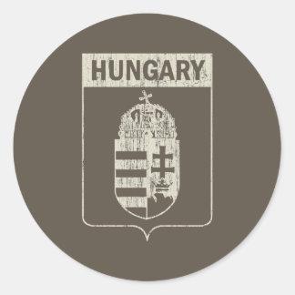 Vintage Hungría Pegatinas Redondas