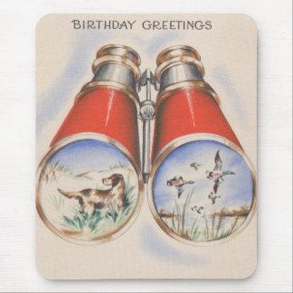 Vintage Hunter Birthday Greetings Mouse Pad