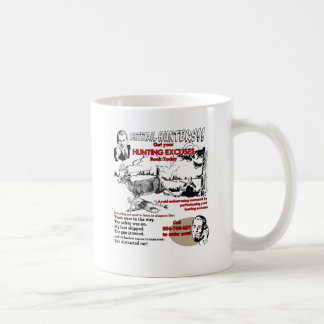 vintage hunter excuses coffee mug