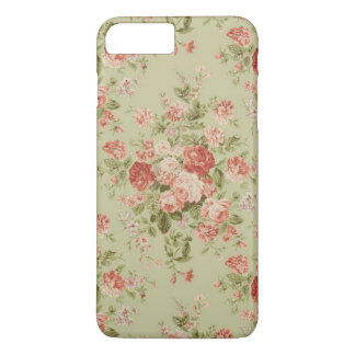 Vintage Hunter Green and Pink Floral iPhone 7 Plus Case