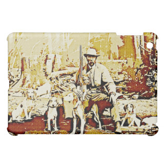 Vintage Hunter With Dogs iPad Case