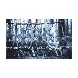 Vintage Hunting Camp Canvas Print