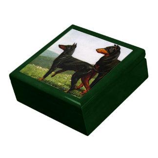 Vintage Hunting Dogs Trinket Box